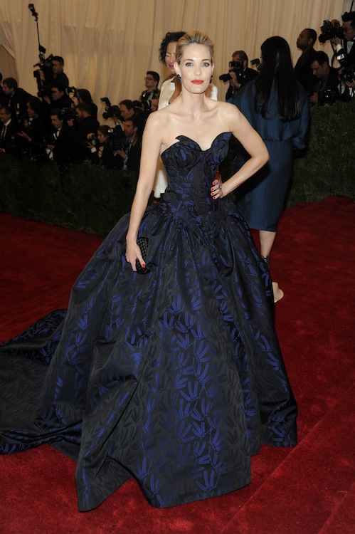 10. Leslie Bibb at the 2012 Met Ball in Zac Posen
