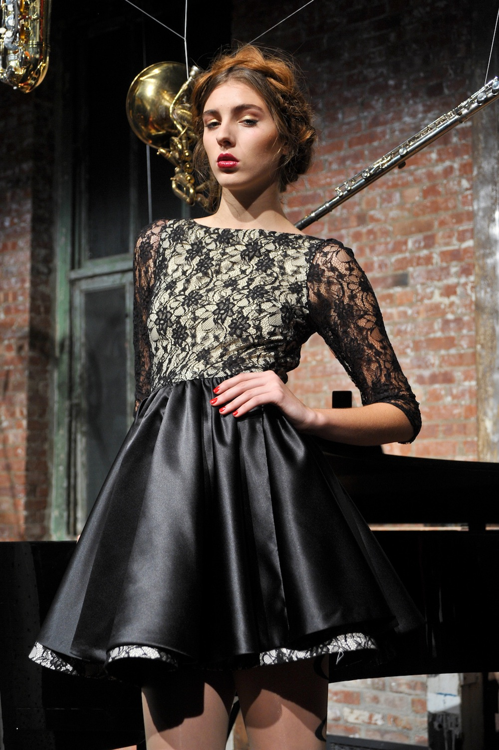 Lace Skater Dress at Alice & Olivia