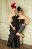 Milliner Leah C with Model