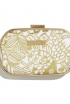 Embroidered Clutch in Gold