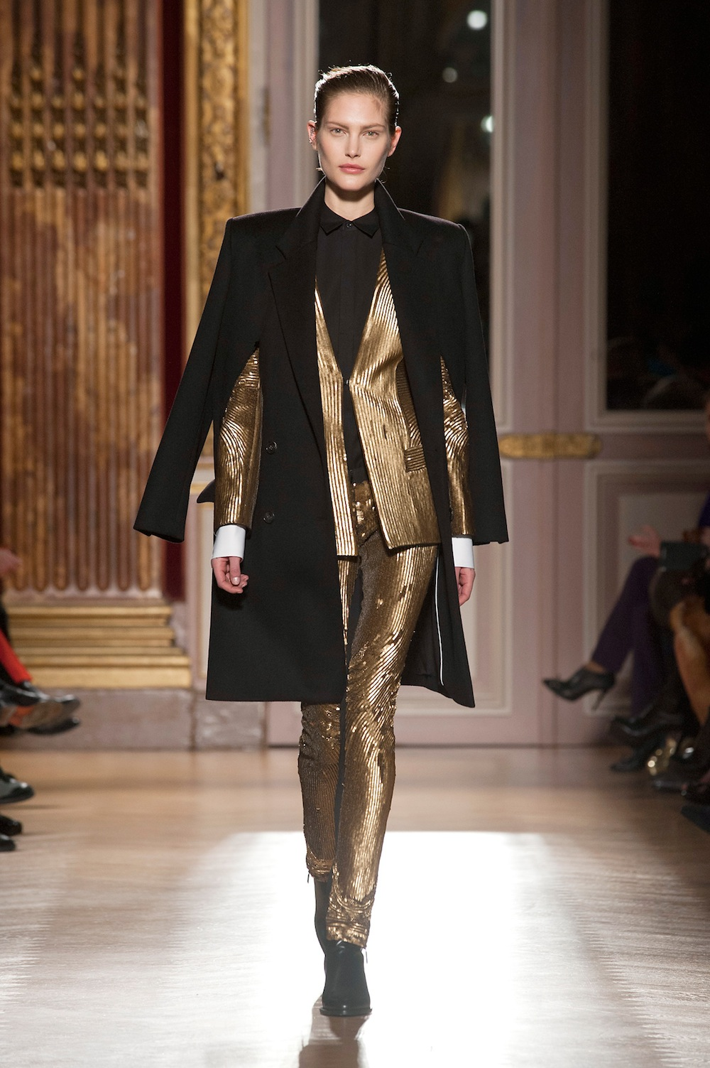 Gold Suit at Barbara Bui