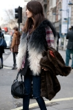 An interesting spin on dip dyed fur