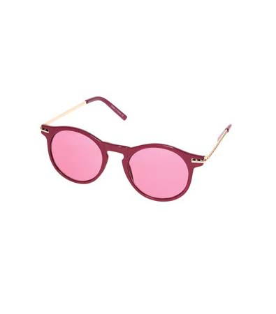 Pink Keyhole Metal Arm Sunglasses