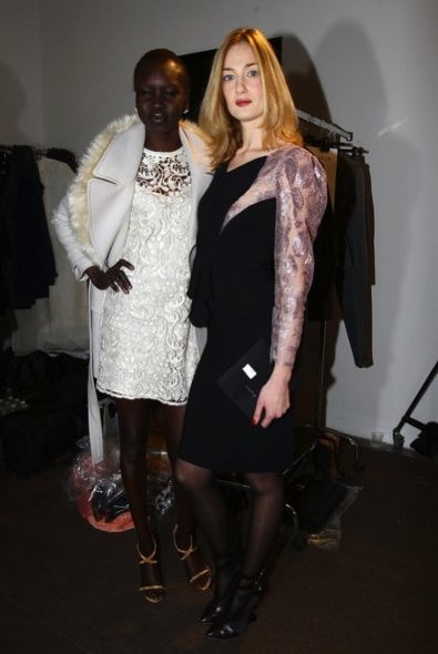 Alek Wek and Eva Riccobono
