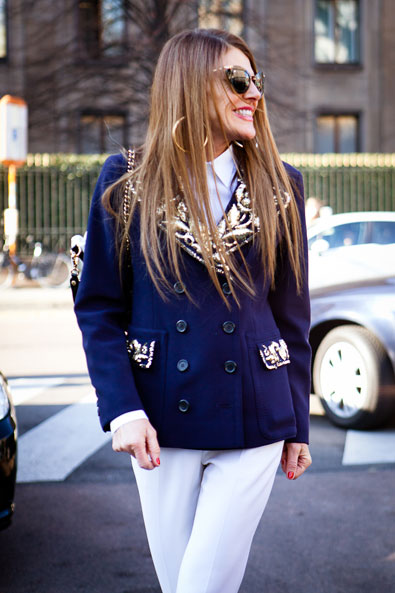 Anna Dello Russo arriving at Moschino in Moschino