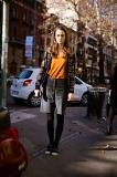 Model leaving Dolce & Gabbana show