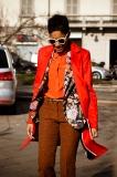Grazia.it fashion director Tamu McPherson arriving at Gucci