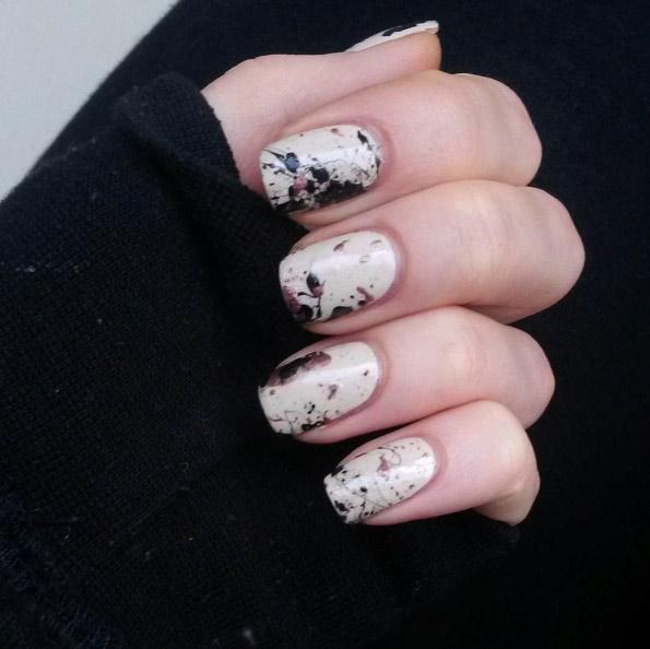 Splattered Manicure
