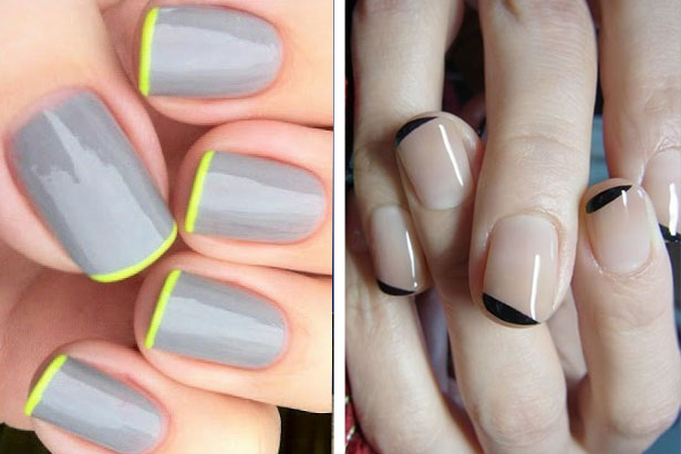 French-Inspired - Easy DIY Nail Art Ideas For Beginners - TheFashionSpot