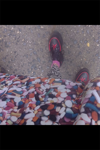 Love all the patterns and colors I'm wearing today!