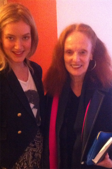 Grace Coddington and I backstage at Band of Outsiders!