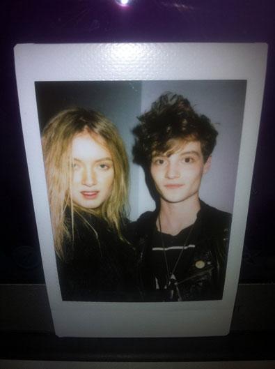 Mark Hitt and me backstage Polaroid