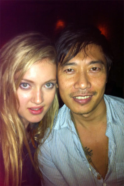 Me and Greg at Rodarte after-party