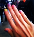 Jeremy Scott crystal covered nails!