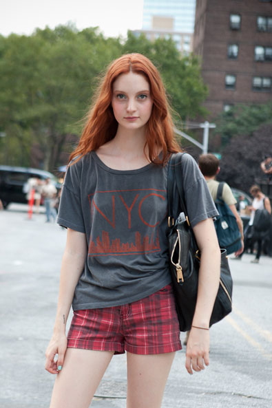 Codie Young, the face of Marc Jacobs' latest fragrance campaign leaving LIncoln Center