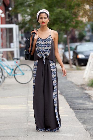 A gorgeous Morgan Carper head to toe silk pajama look