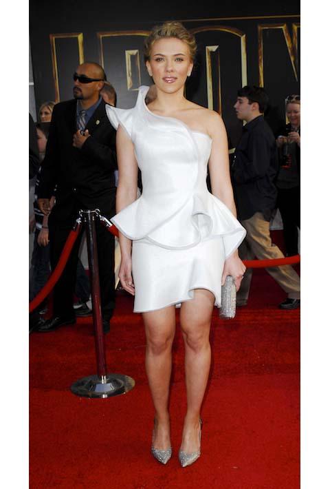 Scarlett Johansson in Armani Prive at the 2010 Iron Man 2 Premiere