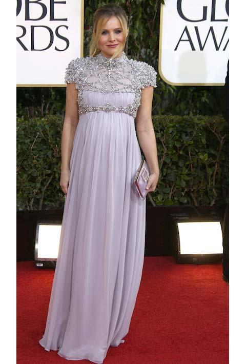 Kristen Bell in Jenny Packham at the 2013 Golden Globes