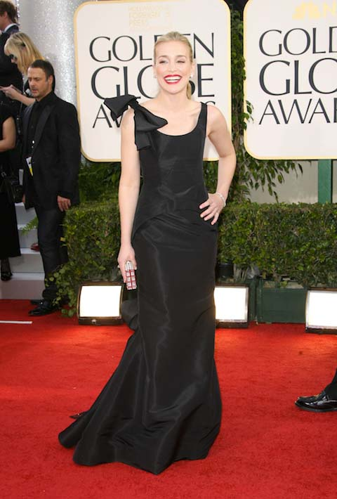 Piper Perabo in Oscar de la Renta at the 2011 Golden Globes