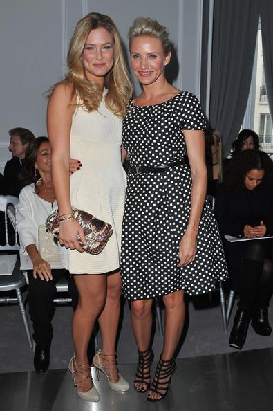 Bar Refaeli and Cameron Diaz at Dior