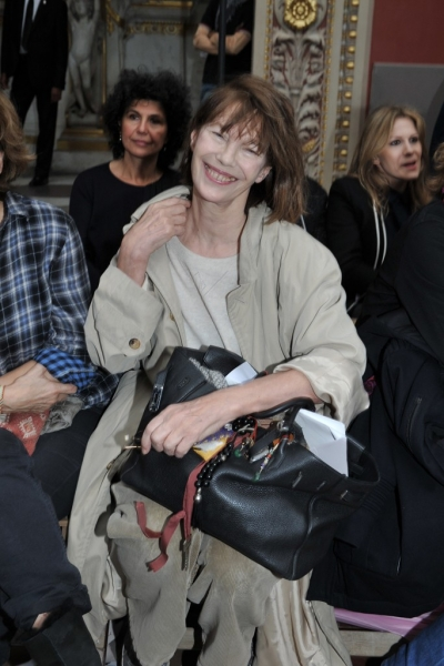 Jane Birkin at Hermes