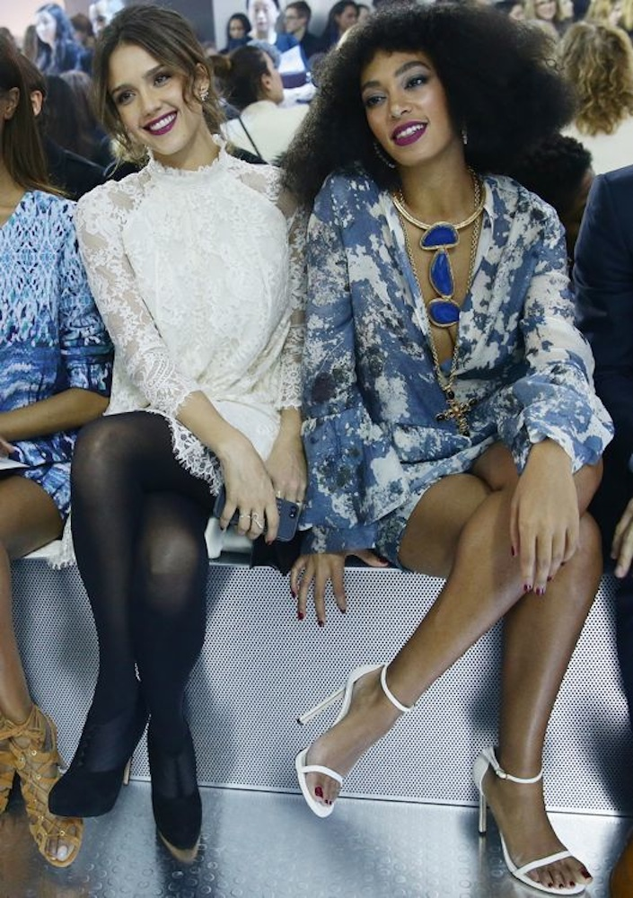 Jessica Alba and Solange Knowles