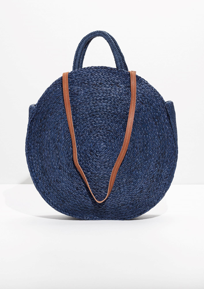 & Other Stories  Raffia and Straw Basket Bags Are the Surprising City Essential for Spring 2018 and other stories straw circle bag