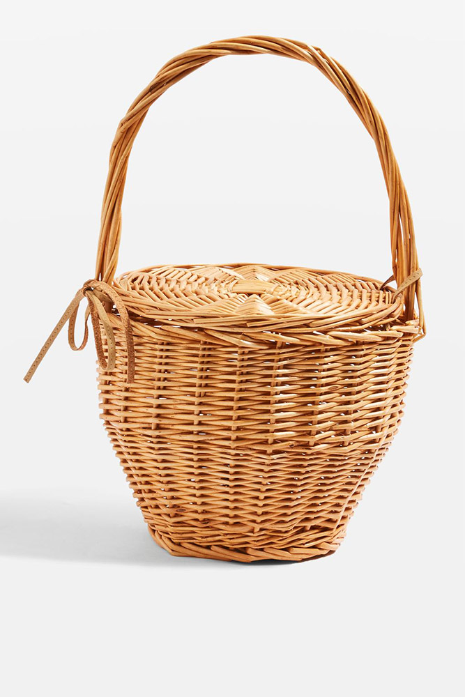 Topshop  Raffia and Straw Basket Bags Are the Surprising City Essential for Spring 2018 topshop shelly straw basket bag