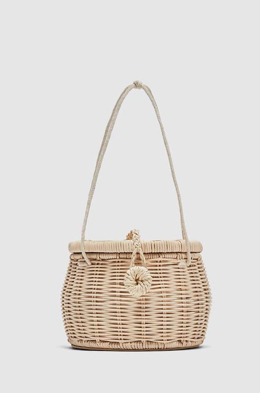 Zara  Raffia and Straw Basket Bags Are the Surprising City Essential for Spring 2018 zara raffia basket