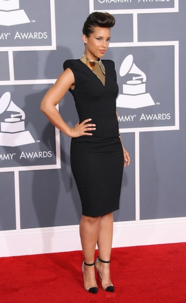 Alicia Keys in Alexandre Vauthier Couture