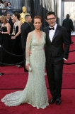 Berenice Bejo in Elie Saab Couture and Michel Hazanavicius