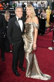 George Clooney and Stacy Keibler in Marchesa