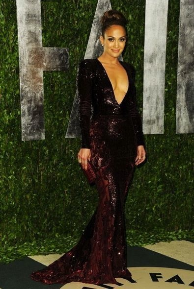Jennifer Lopez at the 2012 Vanity Fair Oscar Party