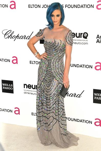 Katy Perry at the 20th Annual Elton John AIDS Foundation Academy Awards Viewing Party