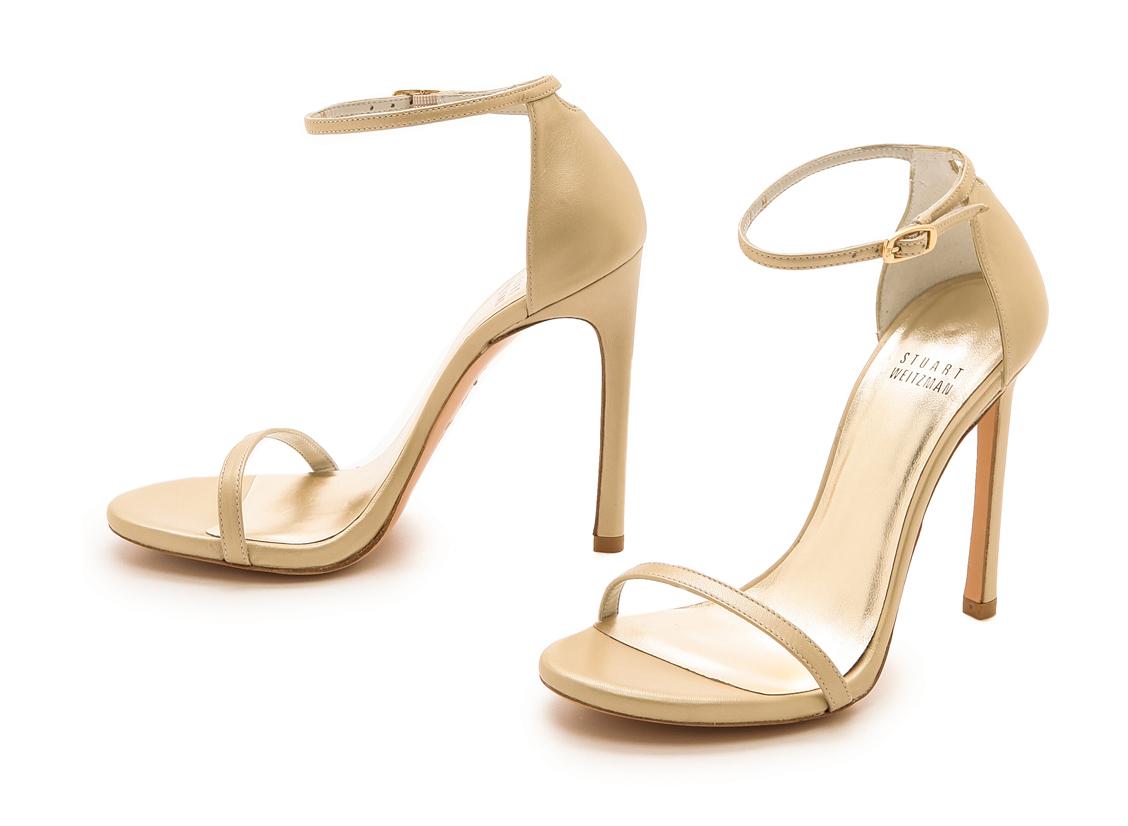 Metallic Ankle Strap Sandal Splurge: Stuart Weitzman