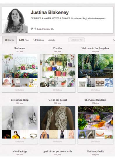 So Pinteresting: A Chat With Pinterest Super-User Justina Blakeney