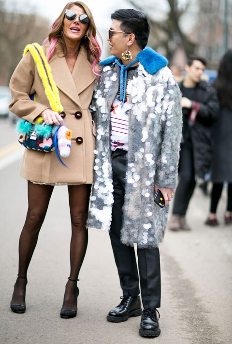 Anna Dello Russo and Bryanboy in Milan