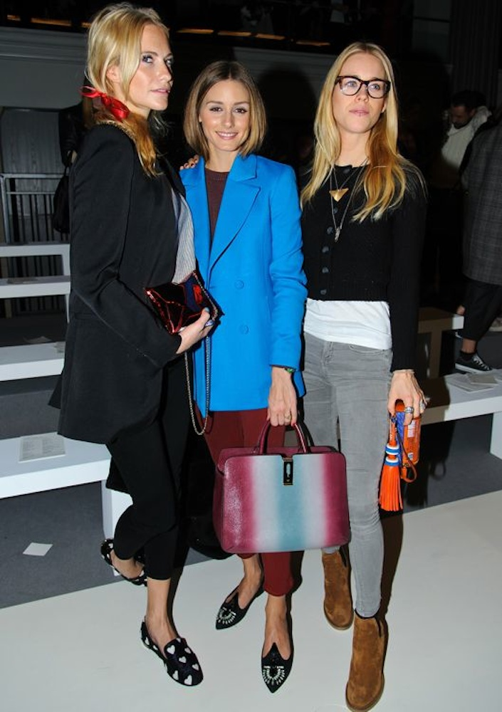 Poppy Delevingne, Olivia Palermo and Mary Charteris