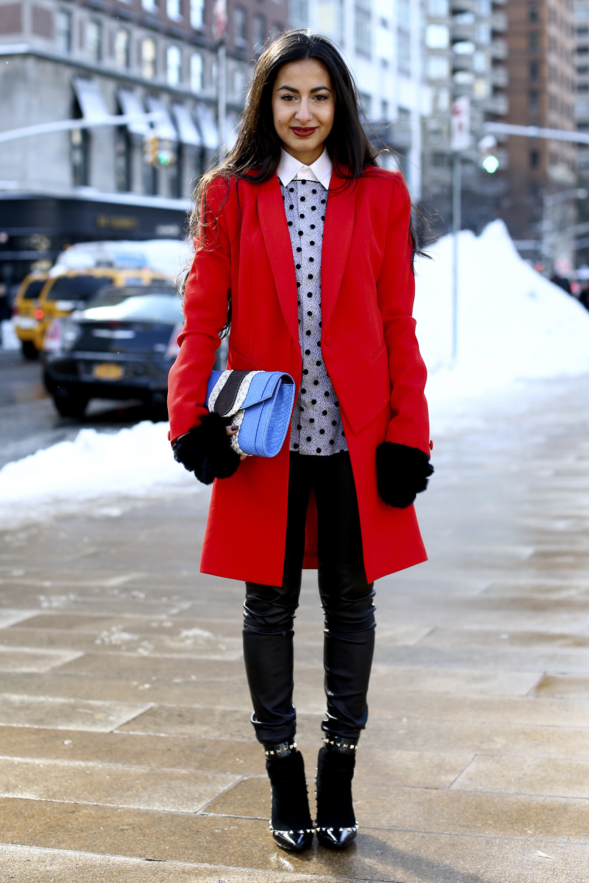 Fall red coat – Modern fashion jacket photo blog