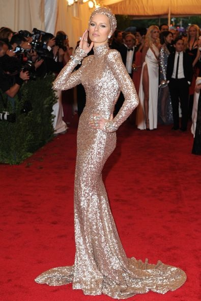 Karolina Kurkova at the 2012 Met Gala