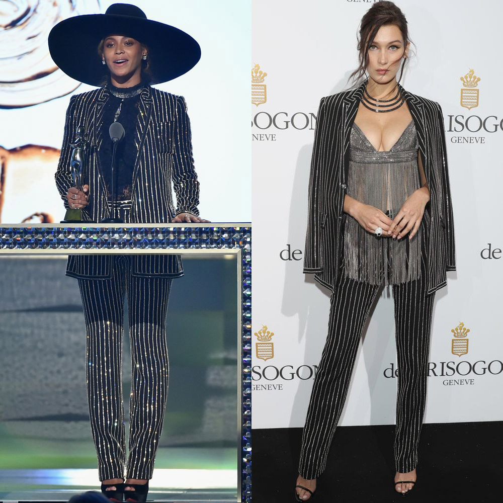 Beyoncé and Bella Hadid in Givenchy