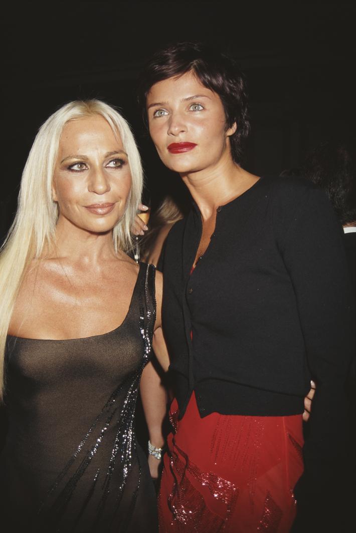 Donatella Versace and Helena Christensen (1996)