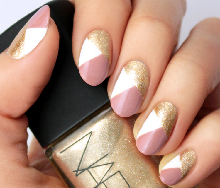 Fine Lines - Easy Nail Art Designs Perfect For Lazy Girls - TheFashionSpot
