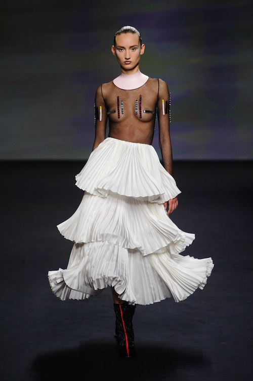 Christian Dior's Tiered Flamenco Styled Skirts