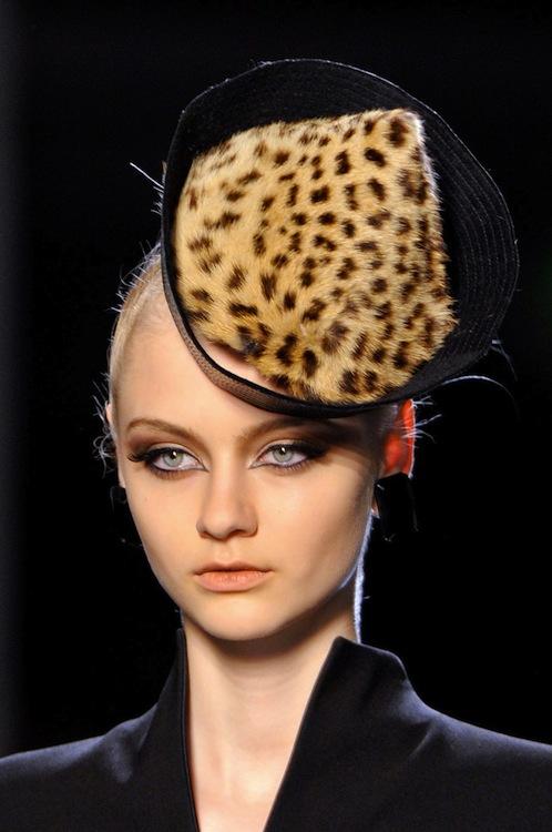 Jean Paul Gaultier's Leopard Print Fascinator