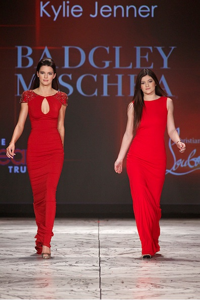 Kendall and Kylie Jenner in Badgley Mischka