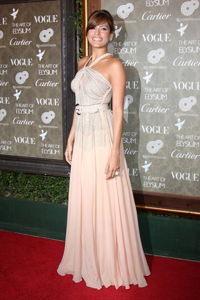 Eva Mendes at the Art of Elysium 2nd Annual Heaven Gala