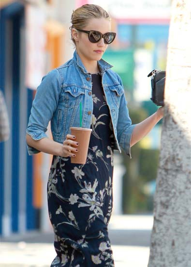 Dianna Agron's Shrunken Denim Jacket 