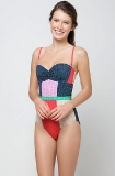 Camilla & Marc Sweetheart Patchwork Maillot