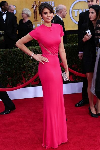 9. Nina Dobrev at the Screen Actors Guild Awards